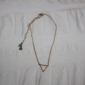American Eagle Triangle Necklace